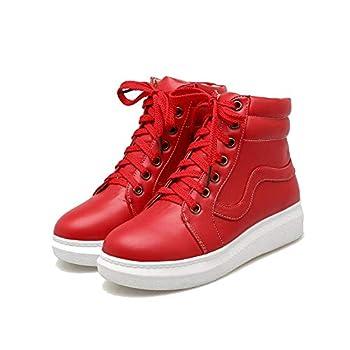 QifengCos My Hero Academia Izuku Midoriya Cosplay Shoes Women Vulcanize Lace-Up High Top Shoes Footwear  Numeric_7  Red
