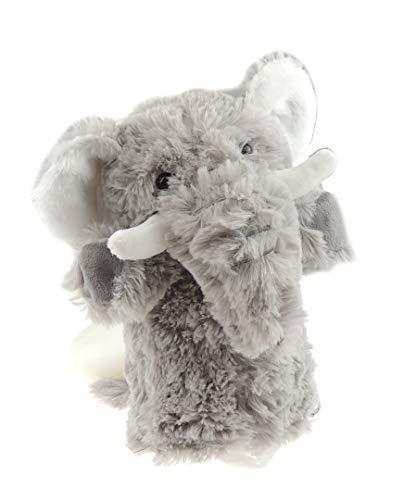 Glamour Girlz Marionnette à main super mignonne pour enfants garçons et filles - Grand animal en peluche douce (éléphant)