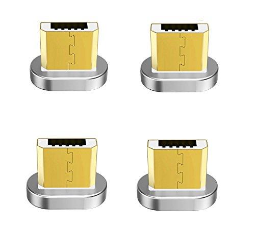 Zrse(ザスイ)【4個セット】第五世代 マグネット式 Micro 磁石 親端子 防塵機能 磁気吸収 Android各種スマホ...