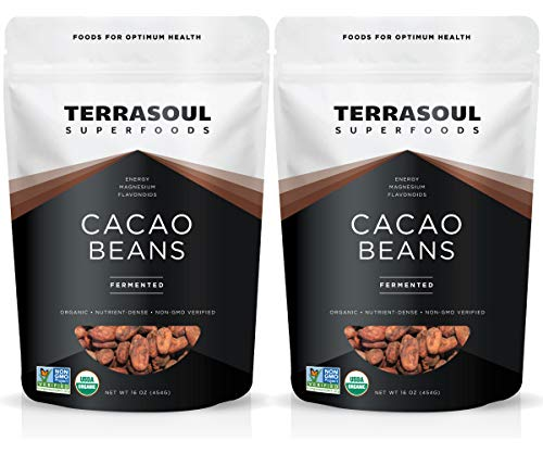 Terrasoul Superfoods Raw Organic Criollo Cacao Beans, 2 Lbs (2 Pack)