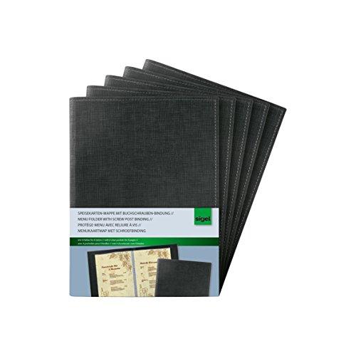 SIGEL SM135 Cubierta para carta con fijación tornillos de sujeción, para A5, 5 unds.