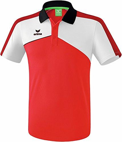 Erima 1111802 Polo Enfant Rouge/Blanc/Noir FR : XXS (Taille Fabricant : 140)