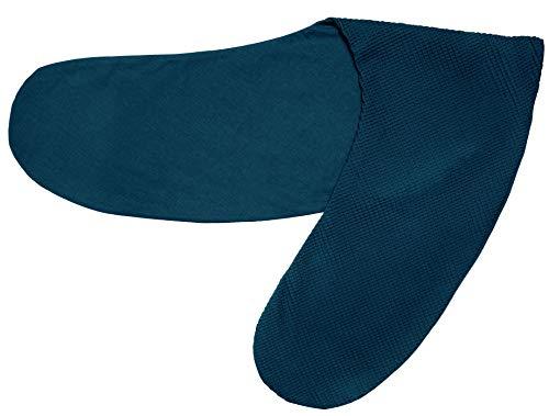 Ideenreich 2463 IDEENREICH - Federa per cuscino per allattamento, 190 cm, colore: Turchese