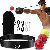 GLKEBY Bola de Reflejo de Boxeo, Bola de Entrenamiento de Boxeo, Entrenamiento de Velocidad MMA para Adultos/niños, el Mejor Equipo de Boxeo para Entrenamiento, coordinación Mano-Ojo y Estado físico