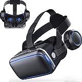 XWEM VR Vasos Auriculares, Gafas De Realidad Virtual En 3D VR Gafas De Realidad Virtual con La Caja De La Lente Ajustable para El Teléfono Móvil 4,7-6,53 Pulgadas 3D Películas Y Juegos