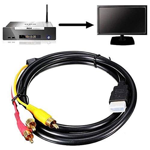 Cable Adaptador de HDMI Macho a 3RCA para vídeo y Audio AV para HDTV/DVD y la mayoría de...