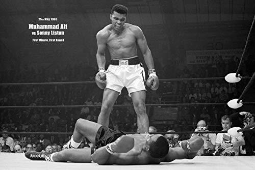 Tainsi Muhammad Ali - Vs. Sonny Liston VI Poster - Matte Poster Frameless Gift 11 x 17 Zoll (28 x 43 cm) *IT-00017