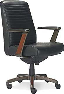 La-Z-Boy Emerson Modern Executive Office Chair with Rich Wood Inlay, Ergonomic High-Back Lumbar Support, Bonded Leather, Black (B07X1MKQ7K) | Amazon price tracker / tracking, Amazon price history charts, Amazon price watches, Amazon price drop alerts