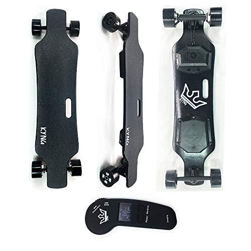 """KYNG 38"""" Electric Skateboard with LCD Remote, Youth and Adults / 23 MPH / 900W Dual Motors / 12-15 Mile Range / 5 Layers Maple - 2 Layers Bamboo Deck/High Speed Longboard Kids and Adults"""