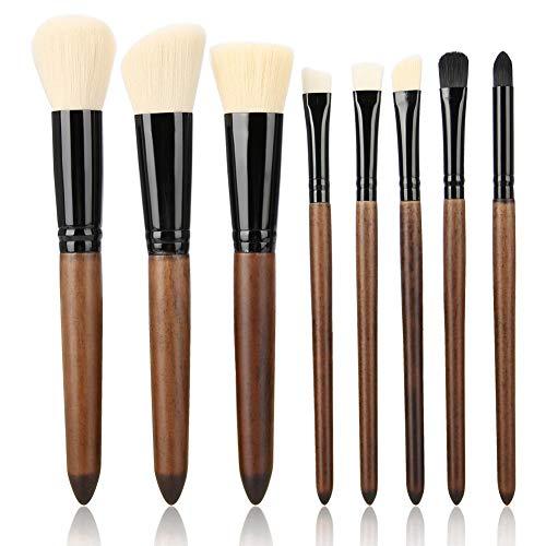 Maquillage brosse 8pcs outils de maquillage en fibres douces(blanc)