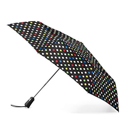Totes Titan Compact Travel Umbrella -UV Sun Protection, Windproof, Waterproof, Auto Open/Close