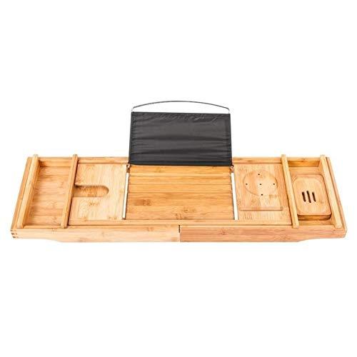 HenShiXin Faltbare Tragbarer Flexible Badewanne Rack-Holz Badewanne Storage Rack (Color : 1)