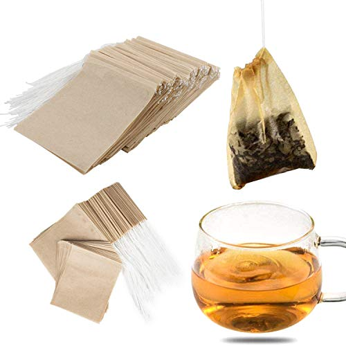 NEPAK 600 PCS Sacchetti Filtro per tè USA e Getta,bustina di tè Vuota,Sacchetti di tè USA e Getta bustine di tè per tè Sfuso(5 x 7 cm)
