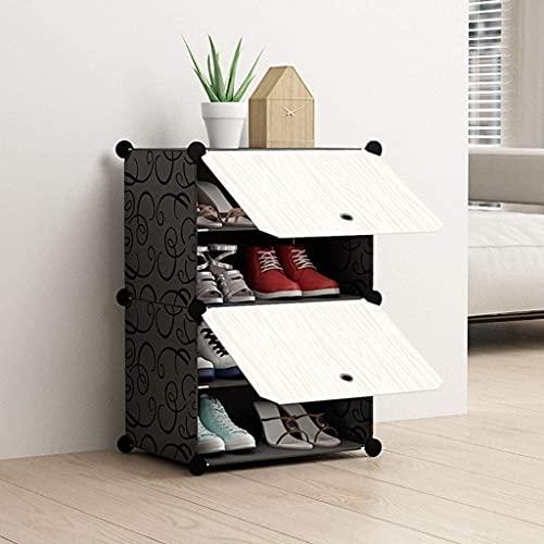Gabinete de zapatos a prueba de polvo 2- Cubo zapatos bastidores de acero con conversión extraíble con conversión de múltiples funciones de rack etiqueta de moda zapato caja de almacenamiento muebles