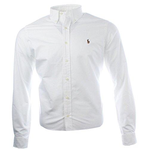 Ralph Lauren Herren Classic Business Hemd (Weiß, XL)