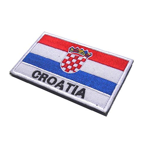 Kroatien-Flagge Stickerei Armband Nationalflagge Muster Magie Aufkleber Arm Abzeichen Sticky Tuch Patch