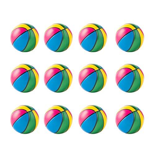 TOYANDONA 12 Piezas de Mini Baloncesto de Juguete Pelota de Baloncesto de Goma Colorida Mini Bolas de Baloncesto de Piscina para Niños Pequeños Adolescentes Piscina Playa Juego Deportivo (6