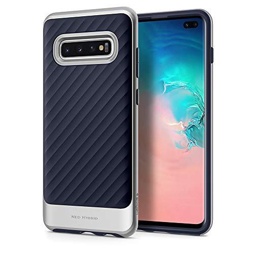 Spigen 606CS25776 Neo Hybrid Kompatibel mit Samsung Galaxy S10 Plus / S10+ Hülle, Zweiteilige Handyhülle Schutzhülle Hülle Artic Silber