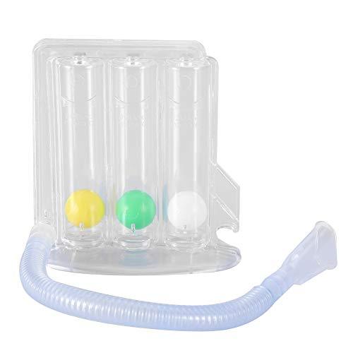 Ejercitador de pulmón Respirómetro de respiración respirable de pulmón profundo de 3 bolas Sistema de ejercicio de respiración segura