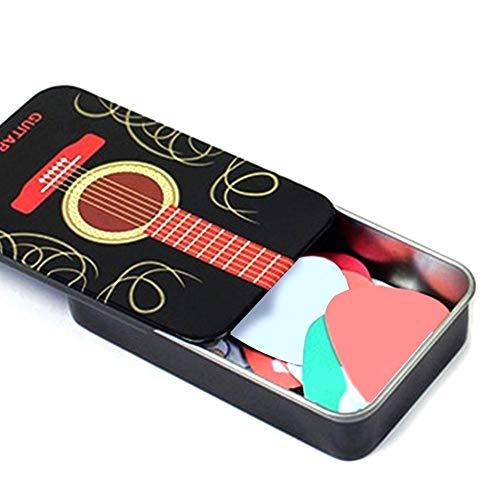 Cathy02Marshall Pickholder Gitarren Plektrumhalter Aufbewahrungsbox Für Plektren, Tragbare Kleine Akustische Elektrische Plektrum Halter Fall Tin Box, Picks Ausgeschlossen
