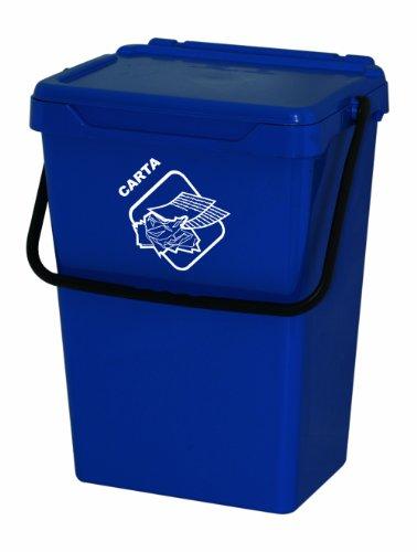 Art Plast Bidone da 35 litri per la raccolta differenziata in plastica, blu