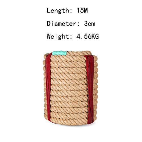 Jute touw tug van oorlog touw outdoor spel, diameter 3cm, 15M, 20M, 25M, 30M, Synthetische hennep touw, klimtouw, 3CM, 15M