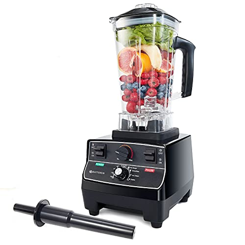 BATEERUN Professional Blender for Shakes and Smoothies, Countertop Blenders for Kitchen, High Speed Smoothie Blender, 2000W Commercial Blender, Smoothie Machine