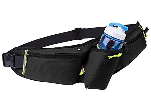 T-TINA laufgürtel mit trinkflasche Sport Hüfttasche,Gürteltasche wasserdichte Bauchtasche für Telefon 6,5 Zoll Lauftasche für Laufen Joggen Fitness Wandern Radfahren Spazieren(Schwarz)