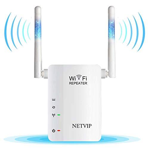 NETVIP WiFi Range Extender 300M Wireless Repeater WiFi Booster 2.4GHz Mini...