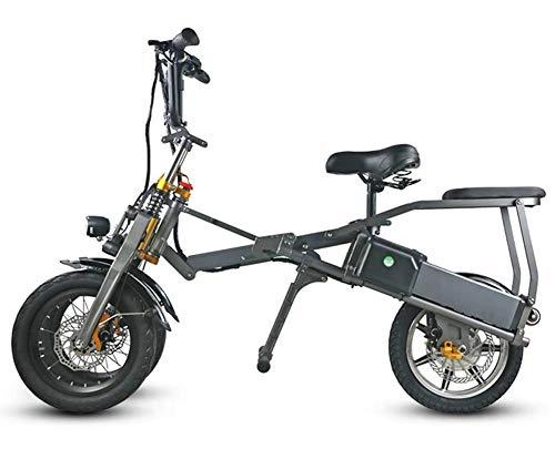 Bicicletas Eléctricas For Adultos, Aleación de Aluminio de 14 Pulgadas Cuerpo Pneumatic Tire Ciudad de Cercanías E-bikes Bicicletas Todo Terreno, 36v/48v 250w/350w 10AH Desmontable Batería de Litio