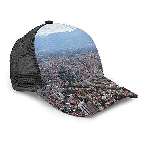 Aliciga Gorra de Beisbol para Hombres Mujeres Espalda de Malla Snapback,Escena de la Ciudad de Cochabamba Bolivia,Sombrero del Camionero Deportes al Aire Libre para Viajar