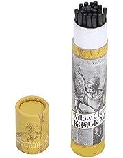 25 barras de carbón para dibujo, barras de carbón de vid, lápiz de carbón, barras de carbón para bocetos, surtido de carbón comprimido con lápiz, herramientas de dibujo artístico