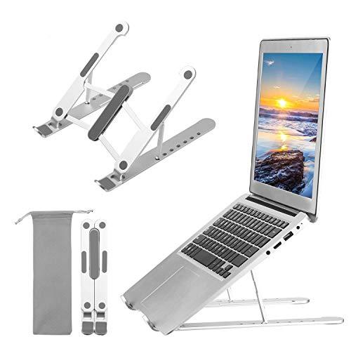Madeinely Soporte de ordenador portátil ajustable para portátiles y portátiles, portátil y fácil de usar ergonómico (tamaño libre; color: astilla)