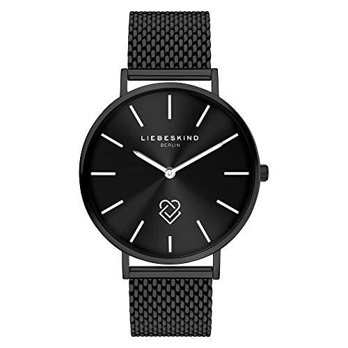 Liebeskind Berlin Damen Analog Quarz Uhr mit Edelstahl Armband LT-0251-MQ