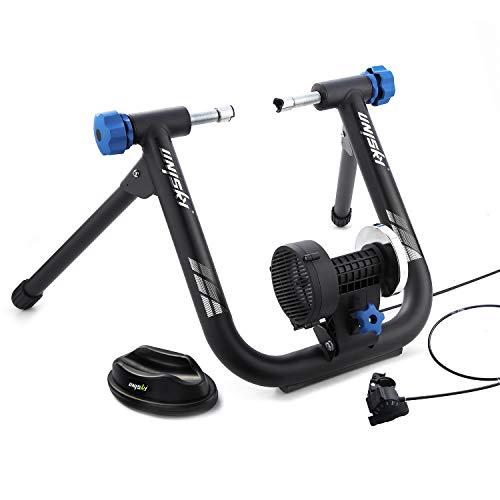 Unisky - Rodillo de entrenamiento, magnético, para bicicleta, entrenamiento en interior, estable y portátil, con 6 niveles de resistencia