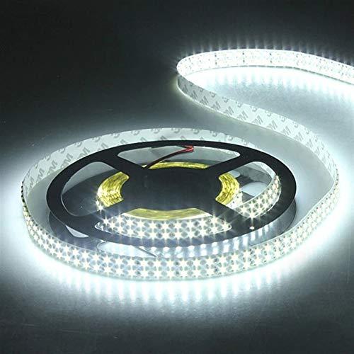 H/A IP20 Blanco/Blanco cálido 5m Doble Redondo sin Agua SMD 3528 1200LED LED Cinturón de luz MENGN (Color : White, Size : 5m)