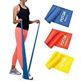 Potok Resistance Band Set, 3Pack Latex Elastic Bands for Upper & Lower Body & Core Exercise,...