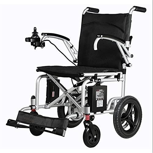 Fauteuil Roulant électrique, Fauteuil Roulant Plia Le sedia a rotelle elettriche pieghevoli ultra portatili Leggeriche e compatti I braccioli a doppia porta possono essere sollevati con una mano a 360