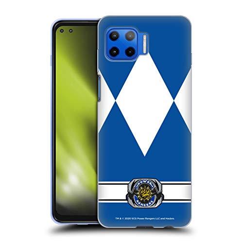 Head Case Designs Oficial Power Rangers Ranger Azul Disfraces Retro Carcasa de Gel de Silicona Compatible con Motorola Moto G 5G Plus