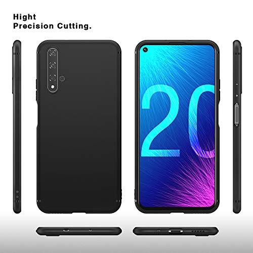 BENNALD Hülle für Honor 20 Hülle, Soft Silikon Schutzhülle Case Cover - Premium TPU Tasche Handyhülle für Huawei Honor 20 (Schwarz,Black) - 2