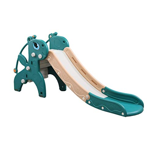 Freistehende Rutschen Freistehende Folien Climbers Slides Kinderrutsche Innen Zuhause Slide 2-8 Jahre Kinder Vergnügungspark Spielzeug (Color : Green, Size : 180 * 43 * 88cm)