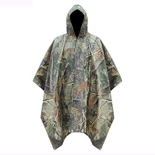 Multifunctionele Rain Poncho, waterdichte jas Camouflage Rain Outdoor Camo Shelter grondzeil, 55,1 * 78,7 inch regenjas met Hoods Rain,A