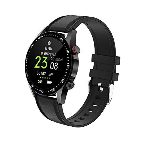 ZGZYL E1-2 Smart Watch Pantalla Impermeable Bluetooth Call Fitness Watch con Monitor De Frecuencia Cardíaca Pedómetro Sueño Monitor De Sueño Mute Alarma Reloj De Alarma Ultrafino Smart Pulsera,E