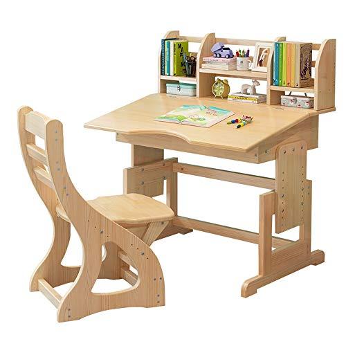 Kindertisch Stuhl Set Einstellbare Kinder Studie Tisch Schlafzimmer Schülertisch for Junge Mädchen Drawer Bleistift Slot Kids School Workstation für Studienaktivitäten im Innen- oder Außenbereich