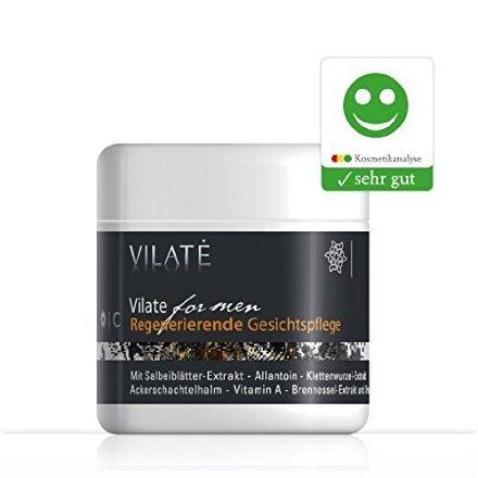 Vilate for men - Regenerierende Anti Aging Gesichtspflege für Männer, Mehrmals Testsieger - 100 ml Herren Gesichtscreme. Mehr als 40 Wirk- und Inhaltsstoffe. Maskulin....
