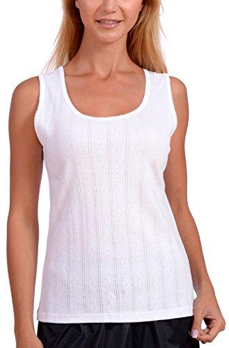 Patricia Lingerie Women's Cotton Undergarment Tank Top Camisole 2 Pack (White, S)