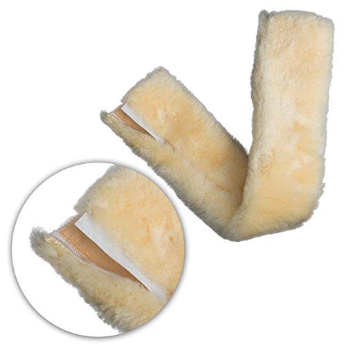 CALEVO® - Lammfell-Sattelgurtschoner mit Klett