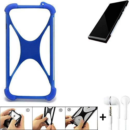 K-S-Trade Bumper Kompatibel Mit Turing Robotic Industries Turing Phone Schutzhülle Handyhülle Silikon Schutz Hülle Cover Case Silikoncase Silikonbumper TPU Softcase Smartphone, Blau (1x)