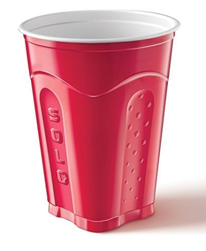 Solo Squared Red Cups, 18 Oz, 144 Count (144 Count, Red)