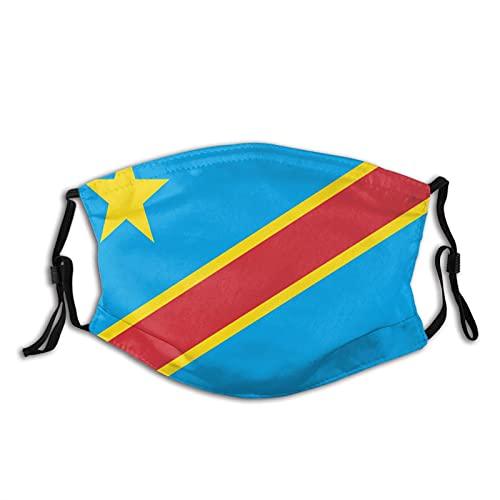 Weda - Bandera del Congo, la máscara de seguridad lavable y reutilizable protege contra el polvo, el polen y el pelo de las mascotas